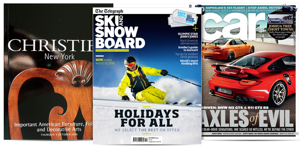 Selection of magazine titles using AD